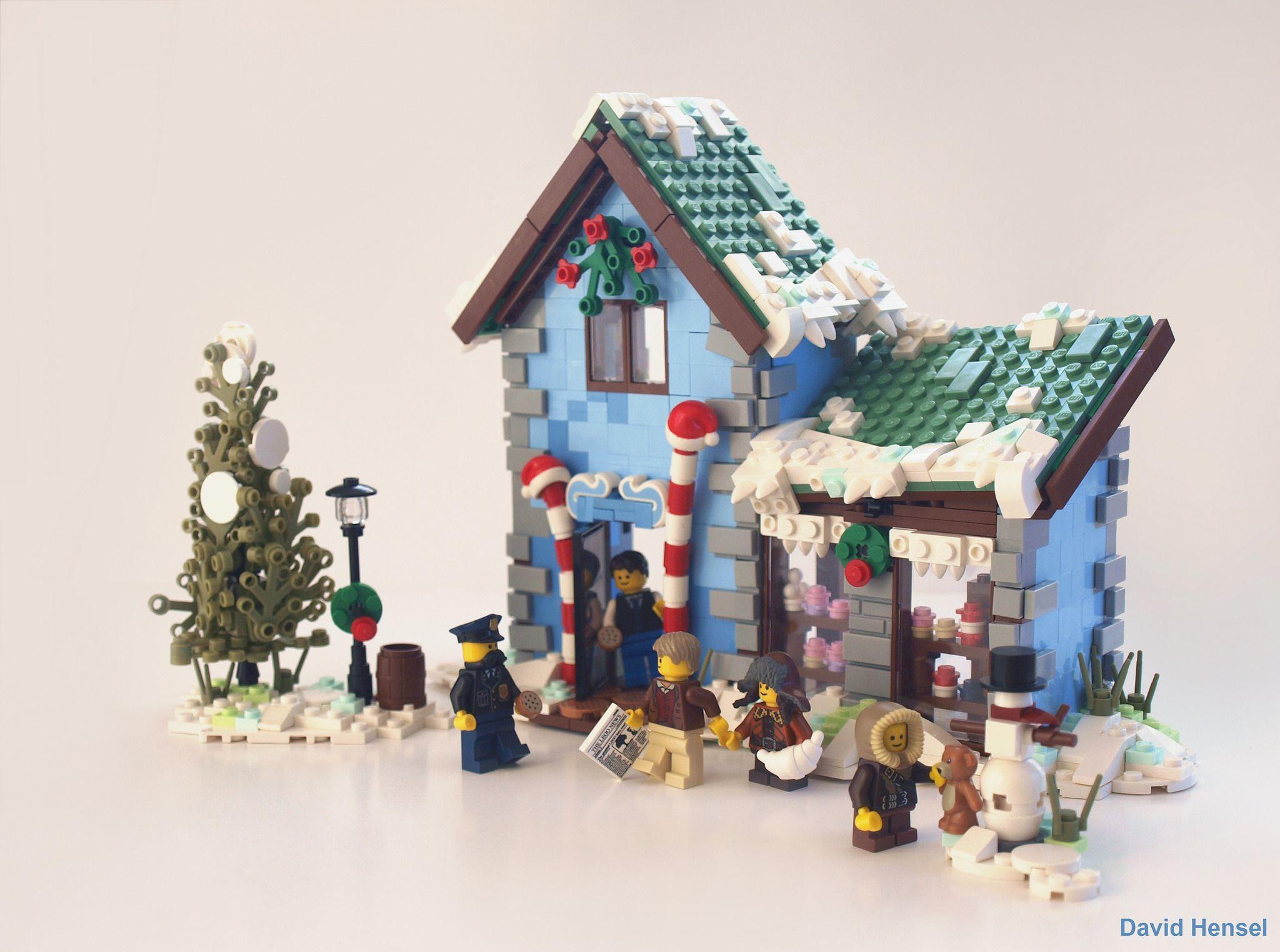 Winter Village Candyshop Lego Christmas Village Lego Winter Village Lego Winter