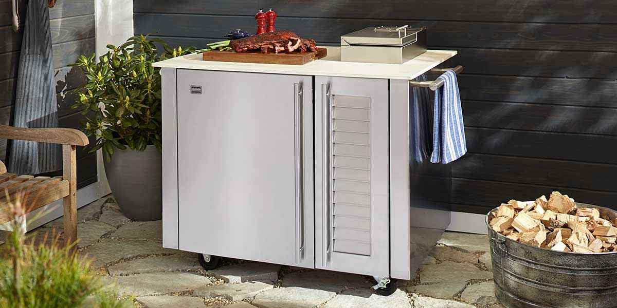 the kalamazoo freestanding smoker cabinet outdoor appliances kitchen inspirations on outdoor kitchen with smoker id=23262