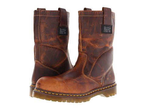 doc marten pull on work boots