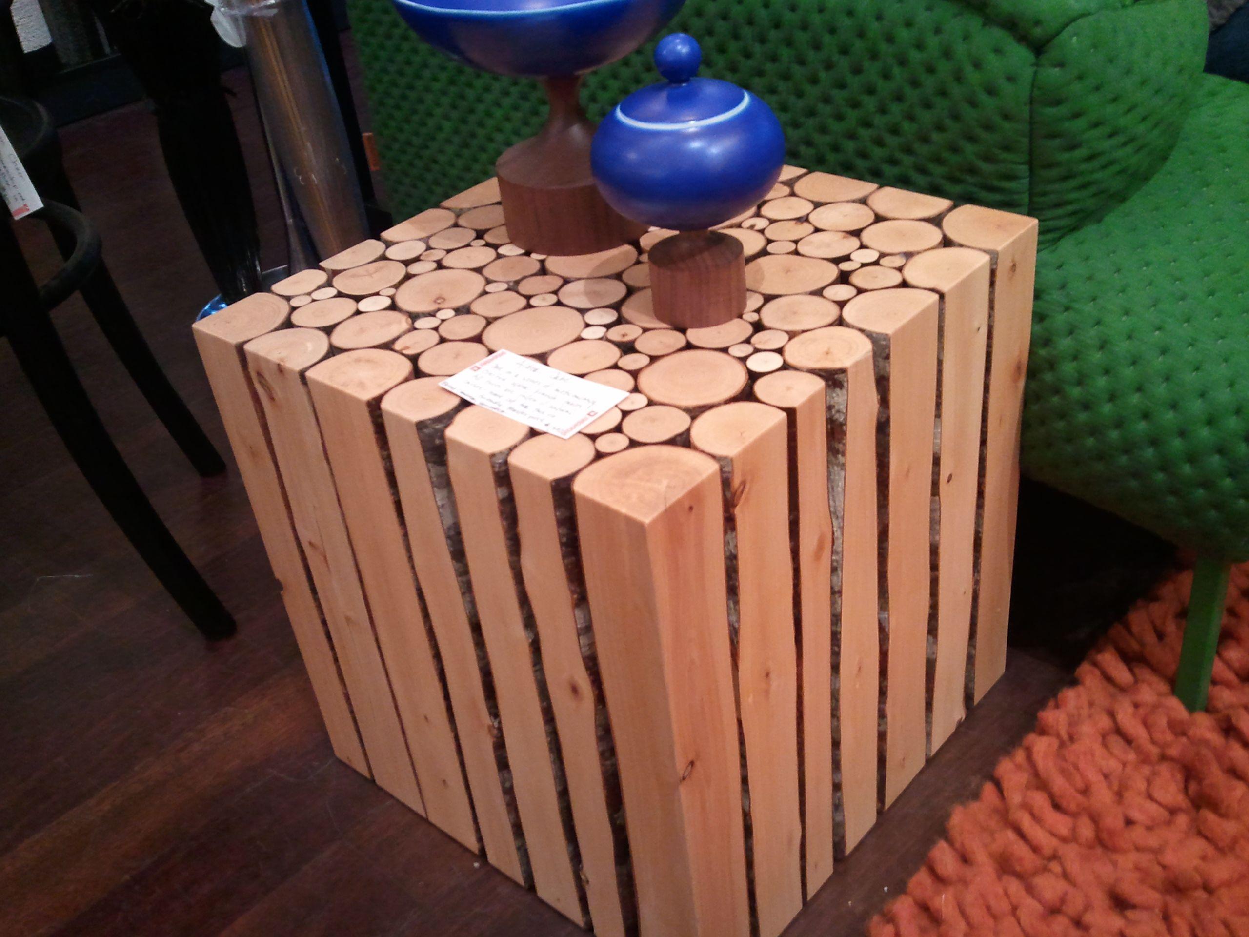 Lavorare Il Legno Grezzo : Wood side table casa montagna legno tronchi d albero alberi