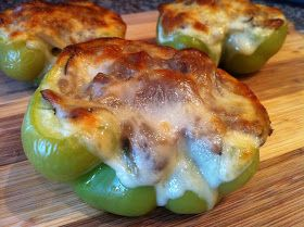 Peace, Love, and Low Carb: Philly Cheesesteak Stuffed Peppers