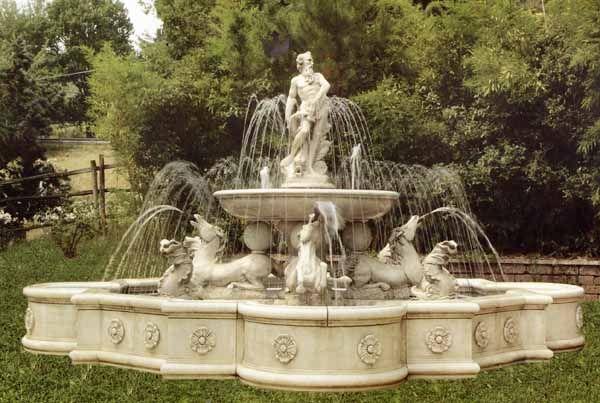 Cast Stone Garden Fountains Large Garden Fountain Monumental Fountain  Estate Fountain Fontana Giubileo 18u0027 Diameter