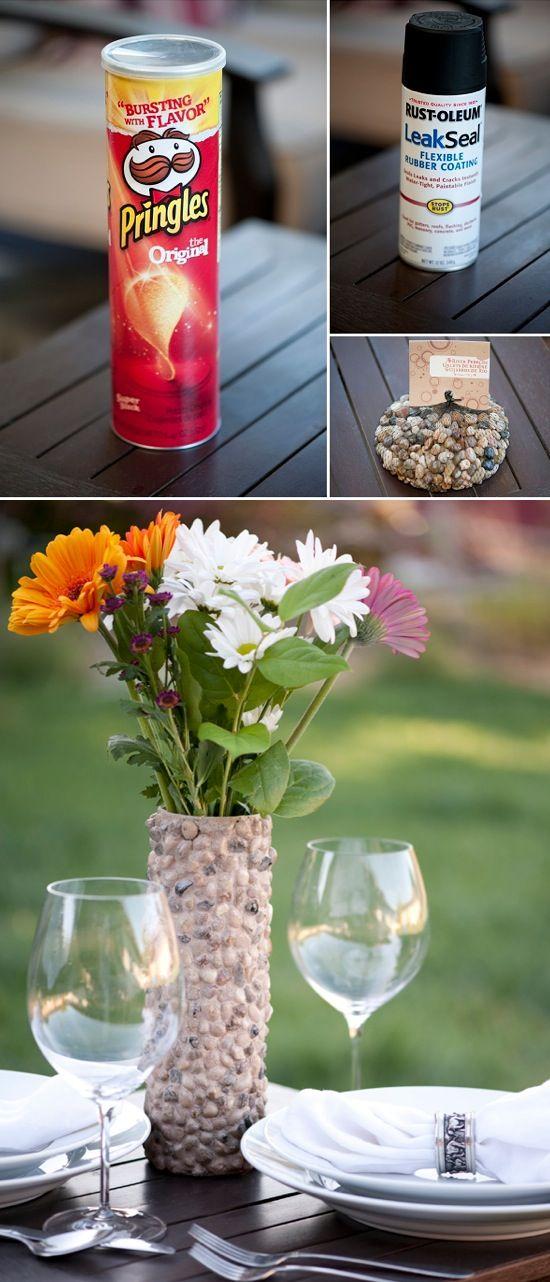 DIY Rustic Rock Vase Crafty ideas Pinterest Rock, Craft and