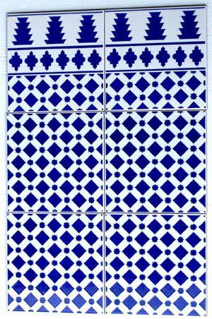 Blue Morroccan Tile