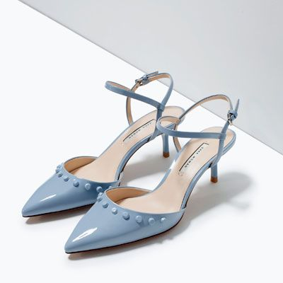 KITTEN HEEL STUDDED SHOES-Shoes-Woman-SHOES & BAGS | ZARA Canada ...