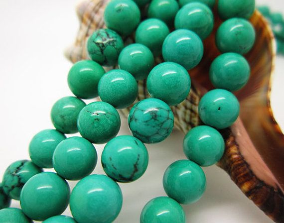 8MM   Green Turquoise  round  loose beads by Gemstocks on Etsy