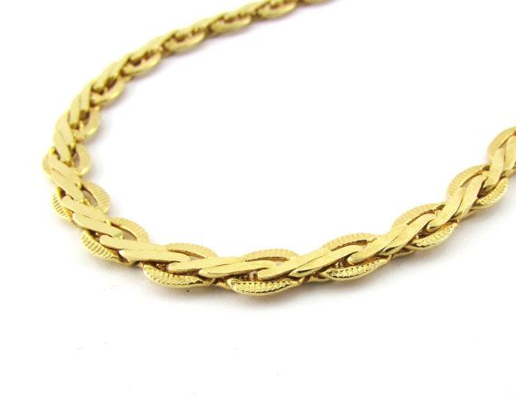 Vintage Mens Gold Chain Necklace Long Thin By Redgarnetvintage Chunky Gold Chain Necklace Mens Gold Chain Necklace Thin Gold Chain