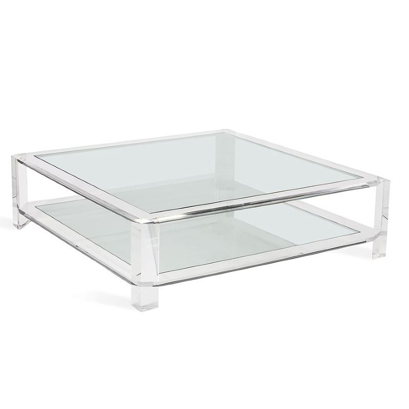 acrylic square coffee table