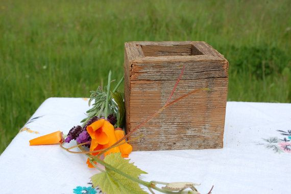 Barn wood Hand Crafted Box ,Weddings, Special Occasions, Cottage Chic on Etsy, $9.95