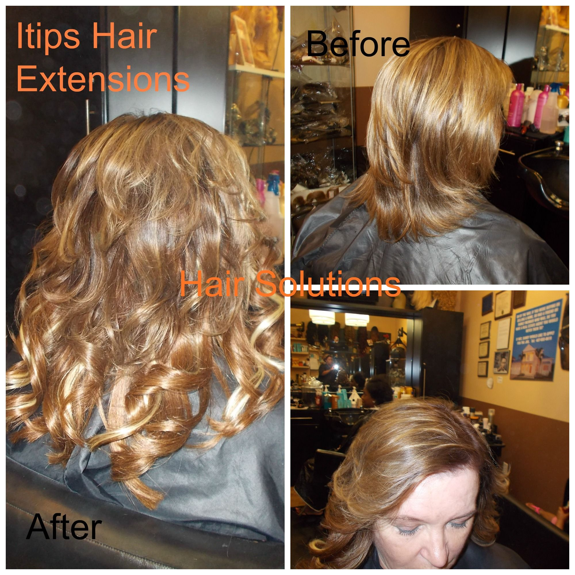Itips Hair Extensions Done With Peruvian Straight Hair In Grade 8a