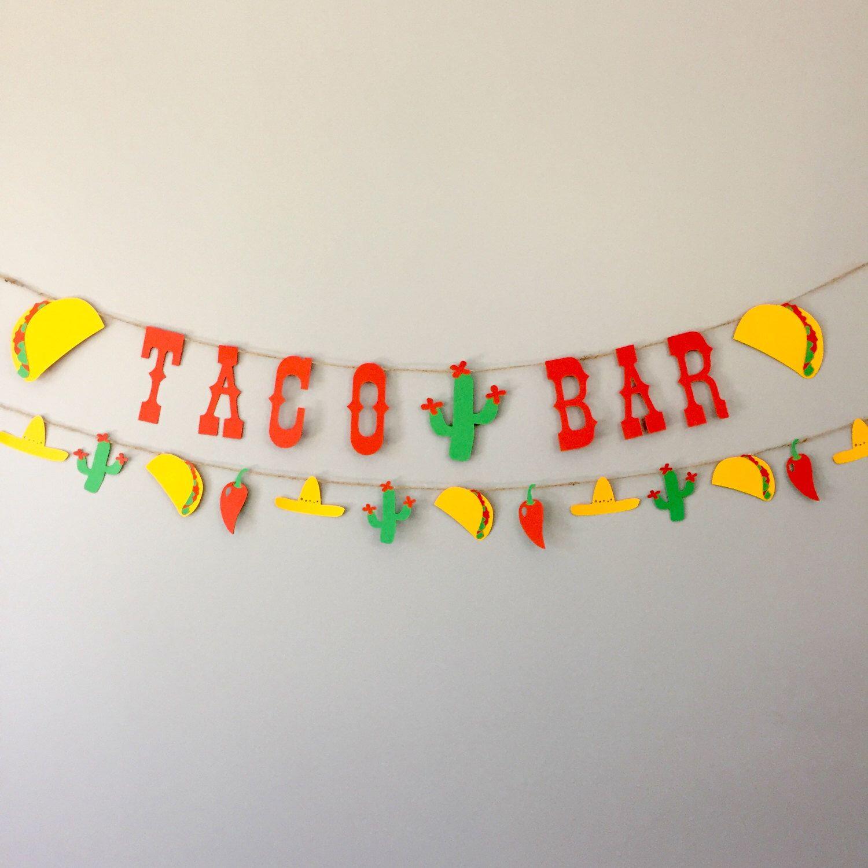 Taco Bar Banner, Taco Banner, Taco Decor, Fiesta Banner, Fiesta