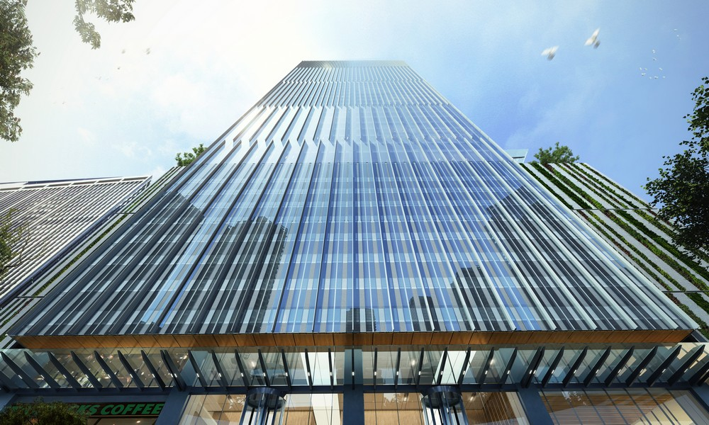 Pin By L Kent Doss On Architecture Glass And Curtain Wall Office Tower Tower Building Facade Design