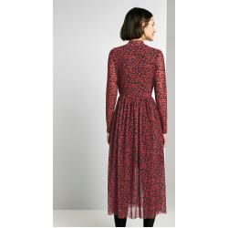 Tom Tailor Denim Damen Gemustertes Midi-Kleid, rot, Gr.L Tom TailorTom Tailor #chocolatemarshmallowcookies
