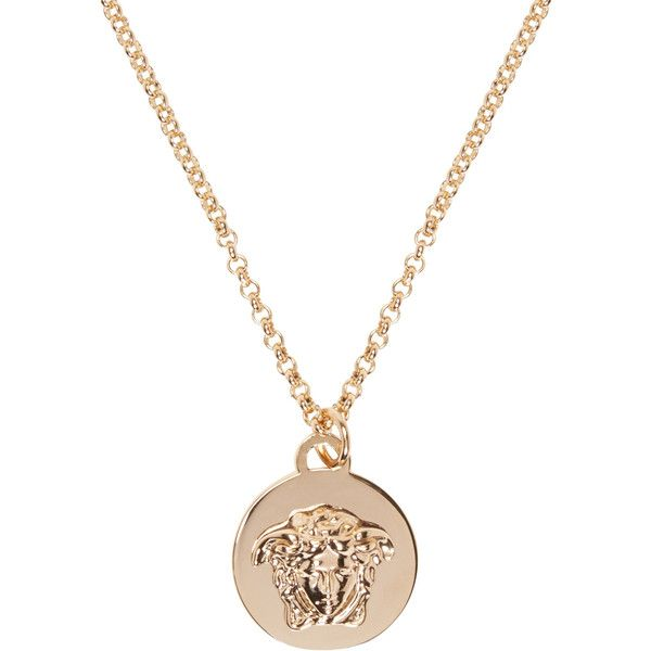 108193266ef5 Versace Gold Medusa Coin Necklace ( 250) ❤ liked on Polyvore featuring  jewelry