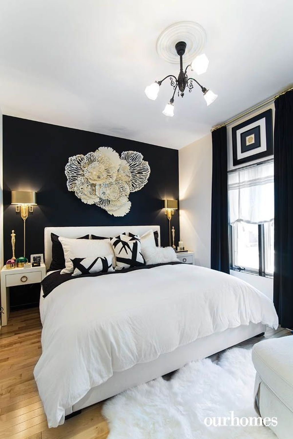 Patterns And Designs Just Like In Any Other Interior Parts Of The House Your Master Bedroom Dese Blue Master Bedroom Beige Bedroom Decor Black Walls Bedroom