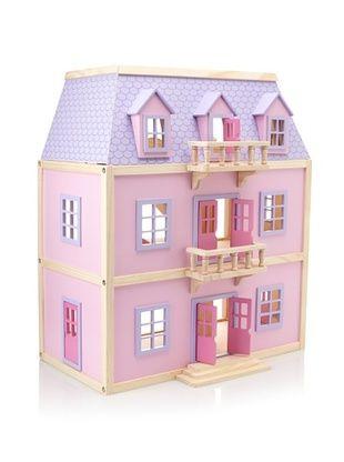 41 Off Melissa Doug Multi Level Wooden Dollhouse Kids Toys