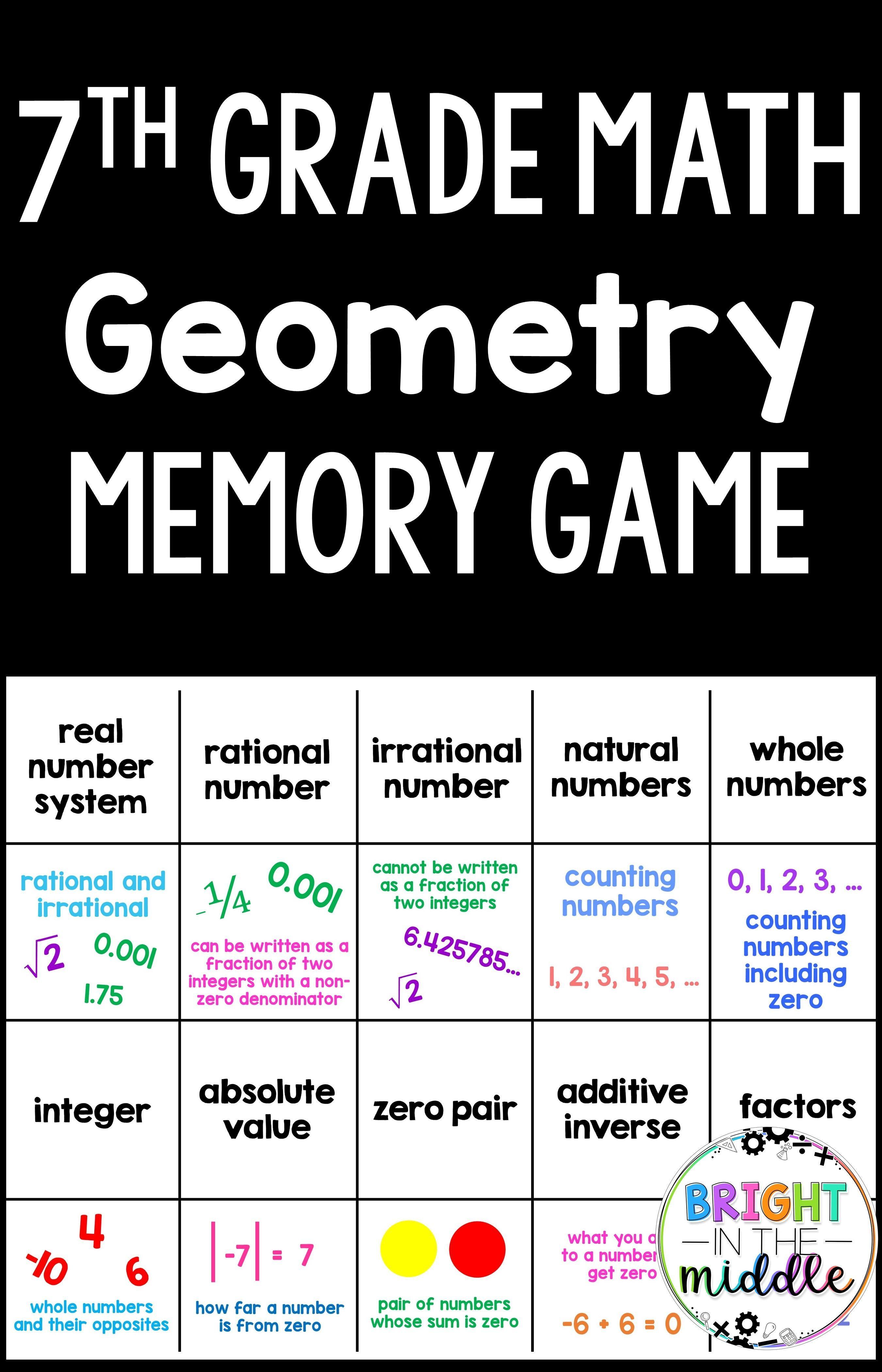 7th Grade Math Game Memory Geometry 7th Grade Math Games Math Games Middle School 7th Grade Math [ 4200 x 2700 Pixel ]