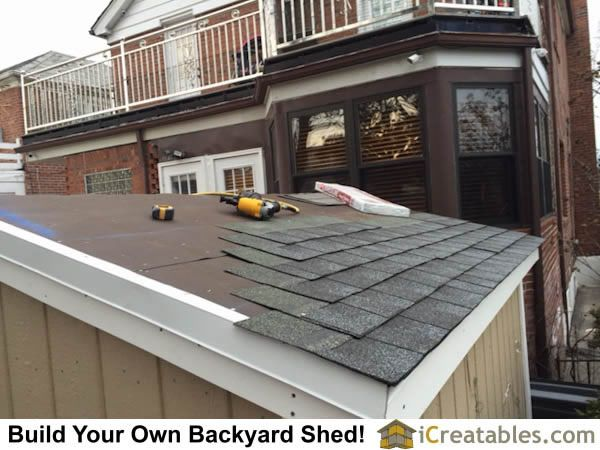Asphalt Shingles On Shed Roof