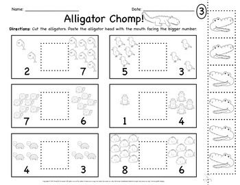 Alligator Greater Than Less Than Worksheets Kindergarten Language Arts Worksheets Kindergarten Worksheets Kindergarten Math Worksheets Free Greater than and less than worksheets