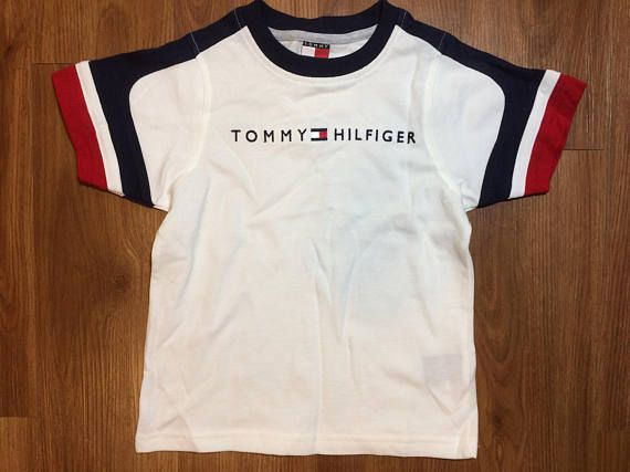 ddce602be1a6 Vintage Tommy Hilfiger t shirt toddler size 4t boys girls 90s fashion kids flag  logo