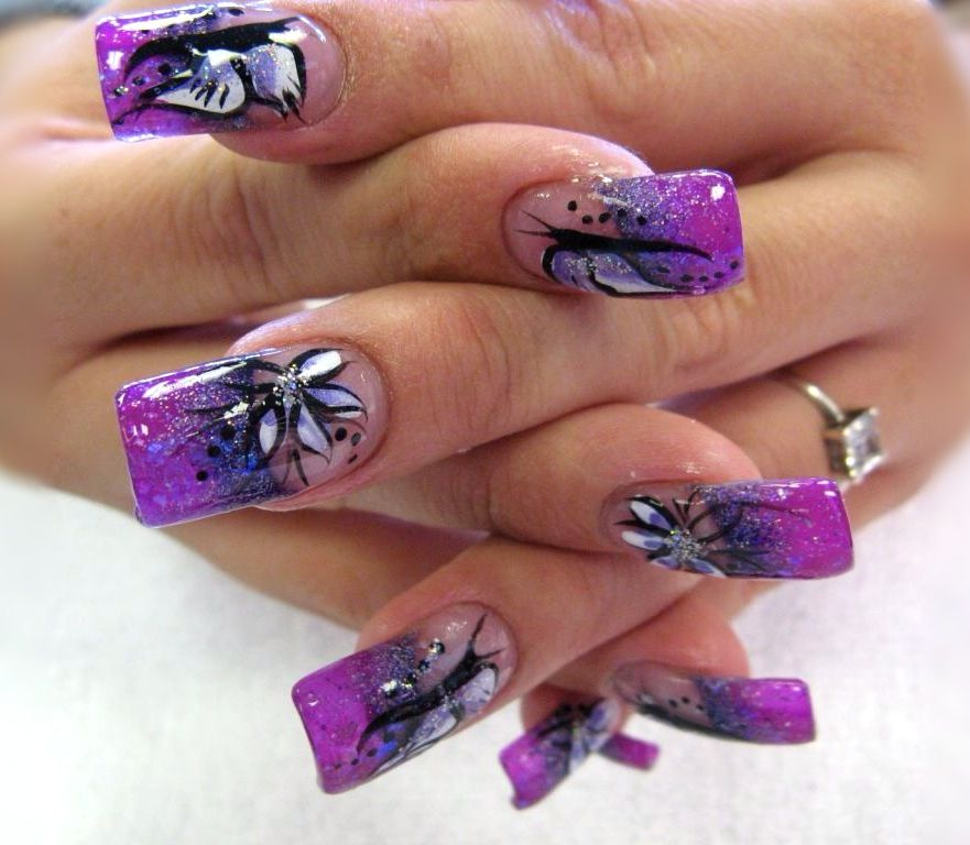 Cool purple nail art design | Everything Nails | Pinterest | Purple ...