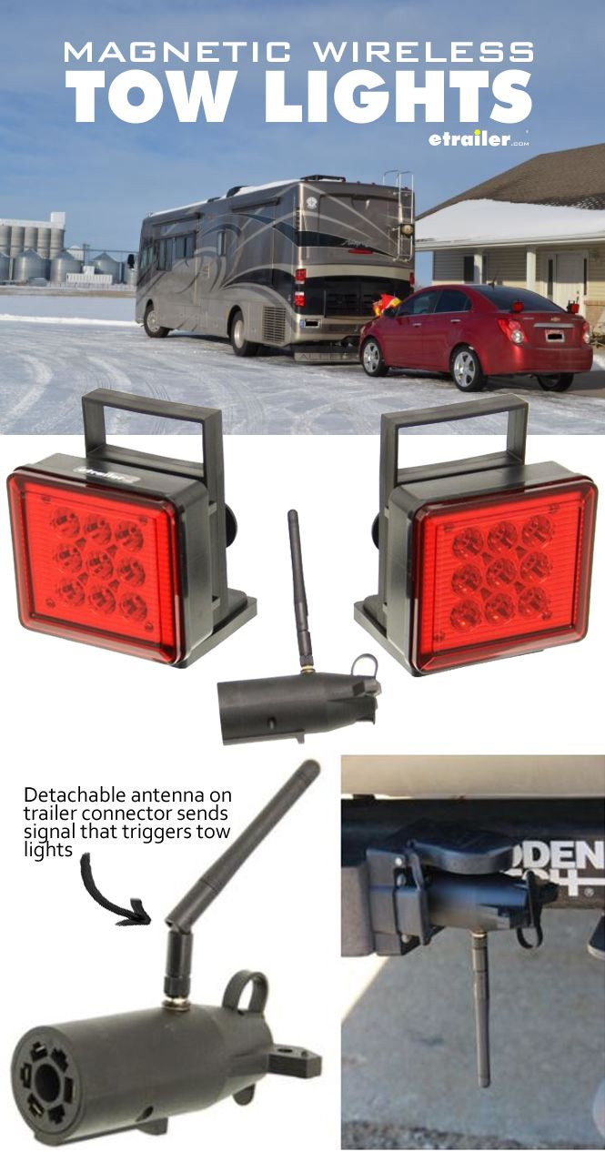 Pilot Tow Lights Red LEDs 4Way Flat and 7