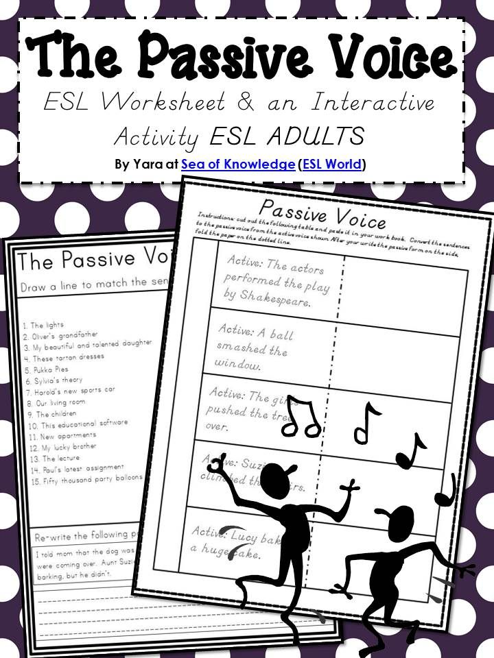 This worksheet is a great addition when teaching the passive voice ...