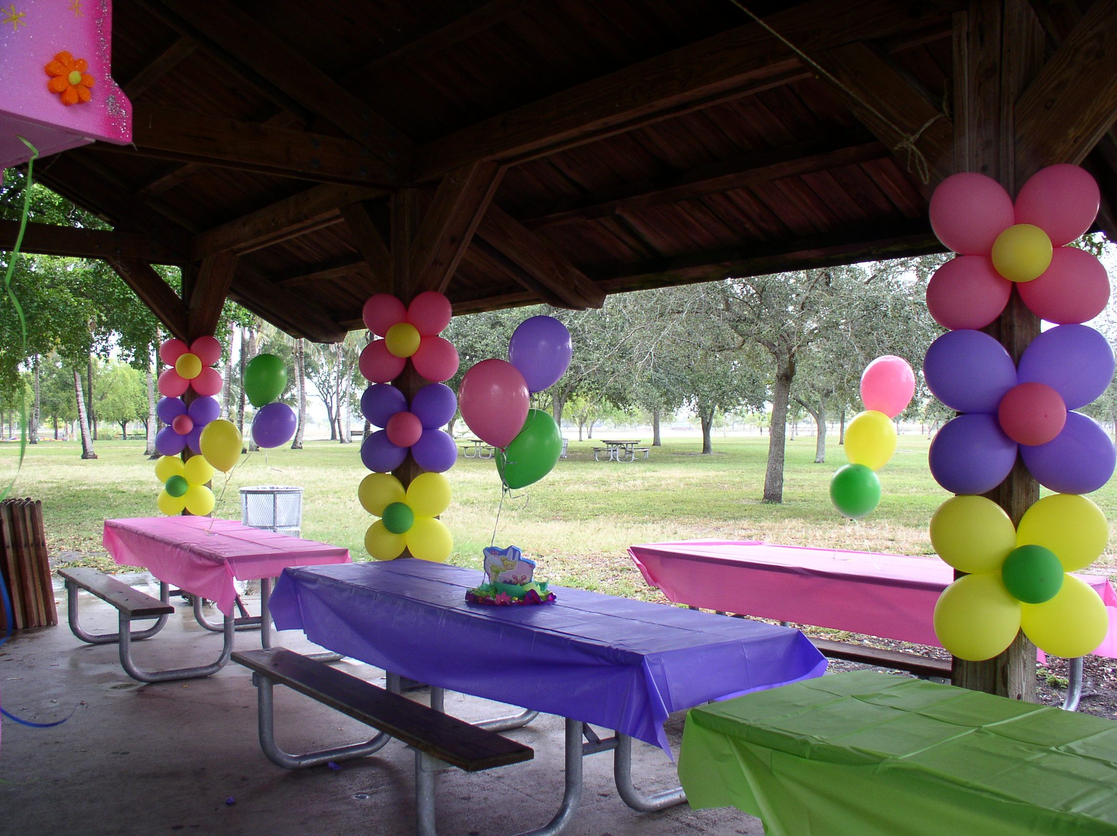 Tinkerbell party decor | Park birthday, Park party decorations