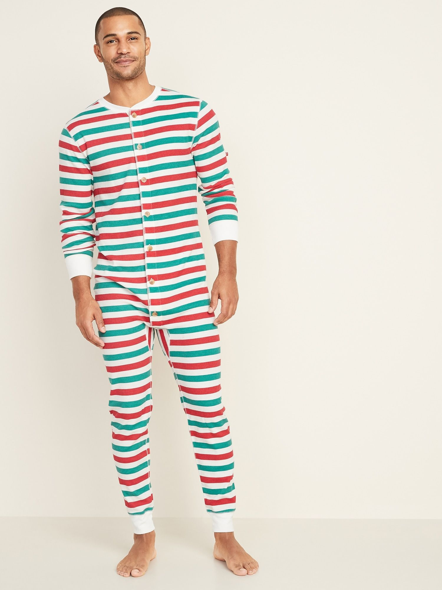 ThermalKnit Union Suit OnePiece Pajamas for Men Old
