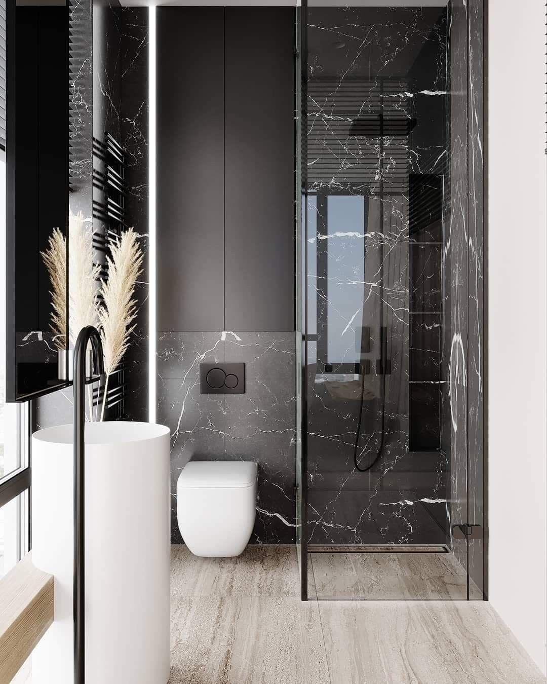 Pin By Silvia Dragos On Salle De Bain Design Bathroom Design Small Bathroom Design Luxury Bathroom Layout
