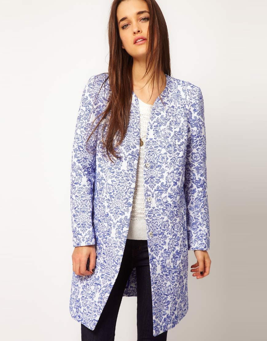 Vanessa Bruno Athe Porcelain Jacquard Coat or Things Meryl Streep Would Wear d2d4e2c8876