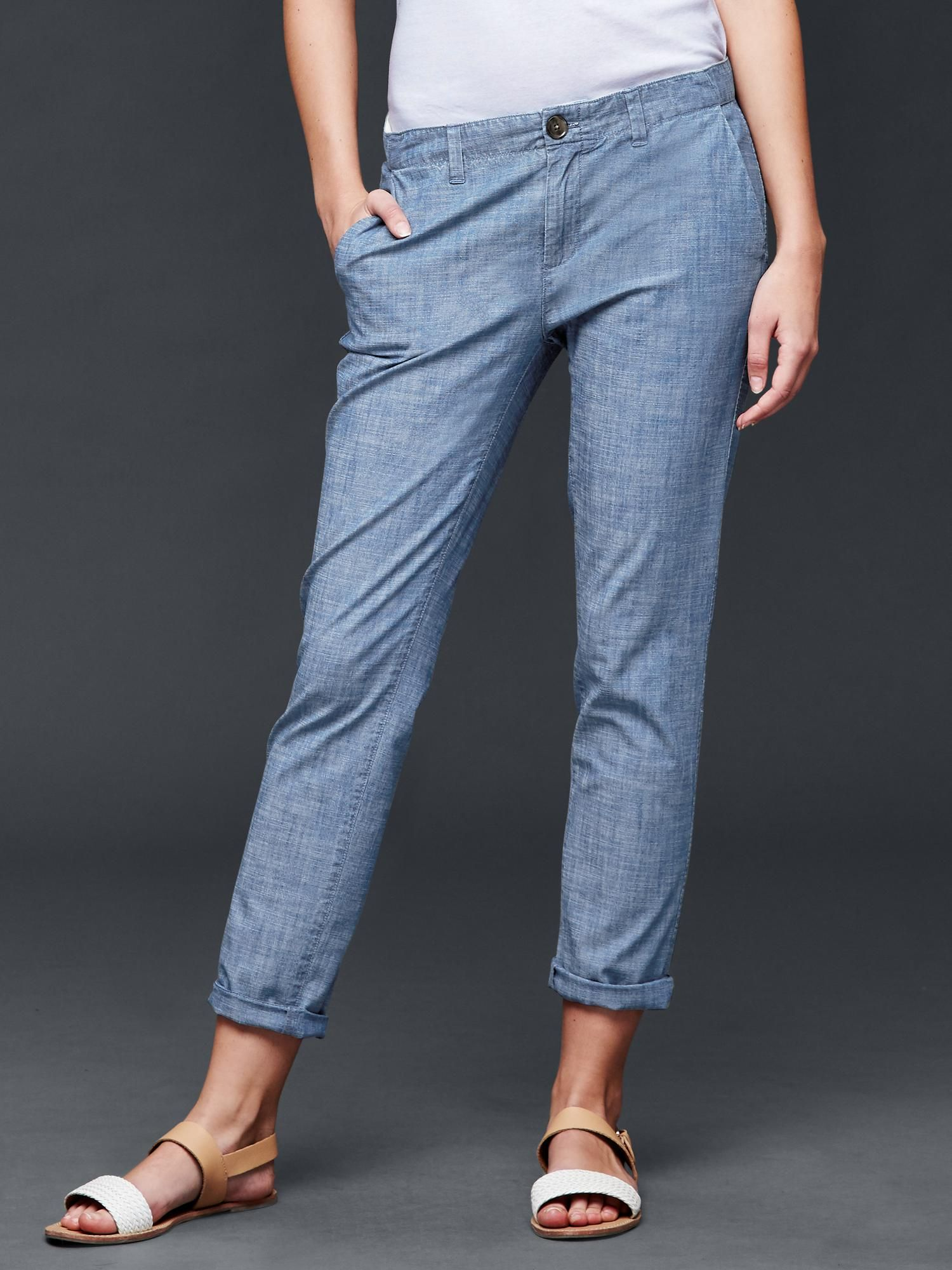 2b82c8911822c chambray girlfriend chino | gap Girlfriend Jeans, Jeans Pants, Mom Jeans,  Chinos,