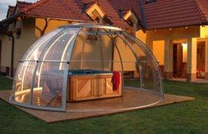 Abri spa d co ext rieur pinterest d co fa ade - Installer un spa dans son jardin ...