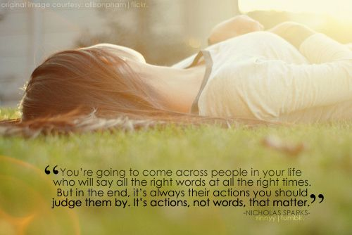 actions not words