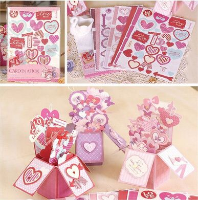 Find more paper crafts information about sweet heart shapes card in software directly from china card frame suppliers sweet valentine love pop up box carddiy handmade card in a box tutorial for greeting card making kit m4hsunfo