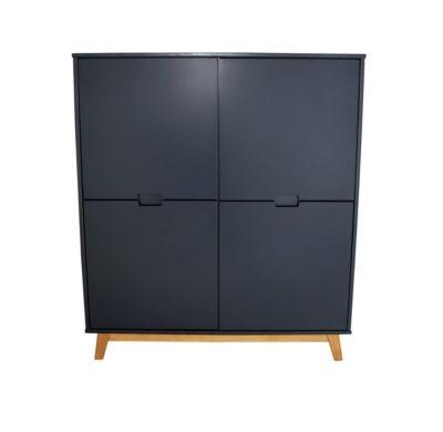 Rangement 4 portes Suede gris anthracite Salons - Peindre Un Meuble En Gris
