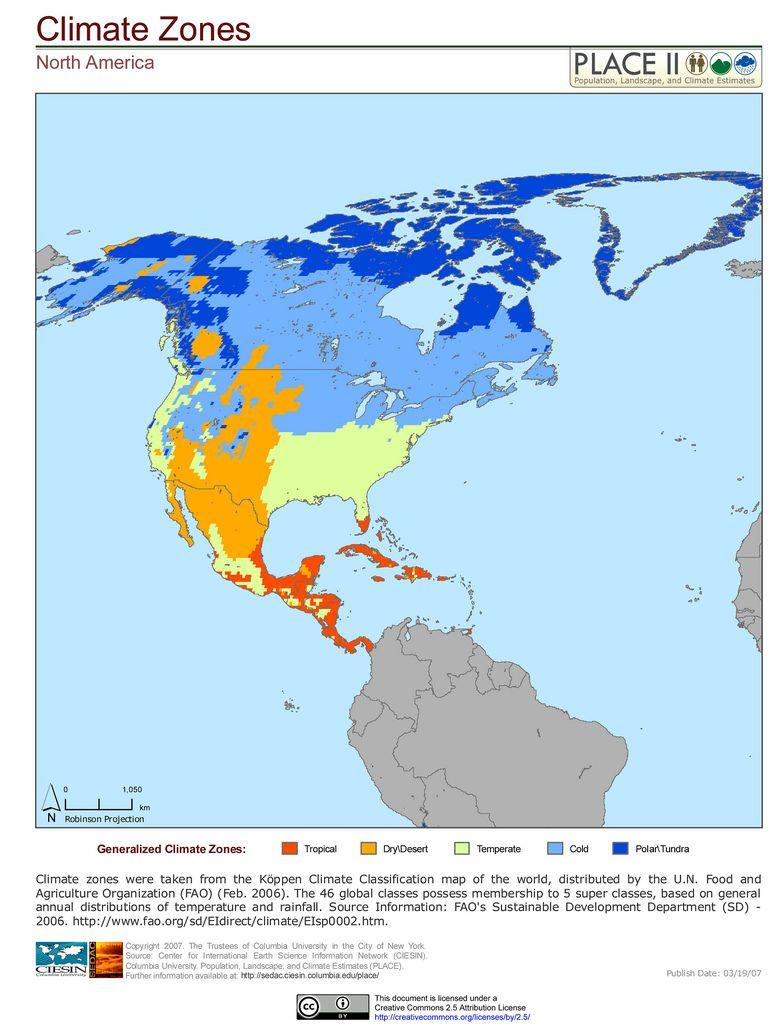 North America Climate Zones Climates Climate Zones North America