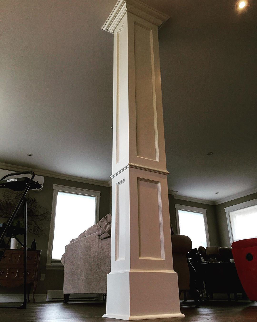 Throwback Thursday! I was asked to trim a load-bearing post so I used MDF to create a colonial look to match the cabinets. Classical cove & bead @freud_tools router bit certainly put to good use on this project! #woodworktrimwork Throwback Thursday! I was asked to trim a load-bearing post so I used MDF to create a colonial look to match the cabinets. Classical cove & bead @freud_tools router bit certainly put to good use on this project! #woodworktrimwork