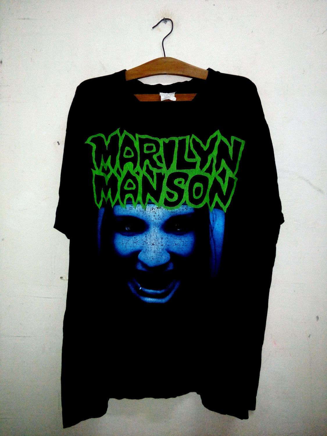 b943f40063b Vintage 90 s Marilyn Manson this is your world Horror Face Rare T-shirt by  Psychovault on Etsy