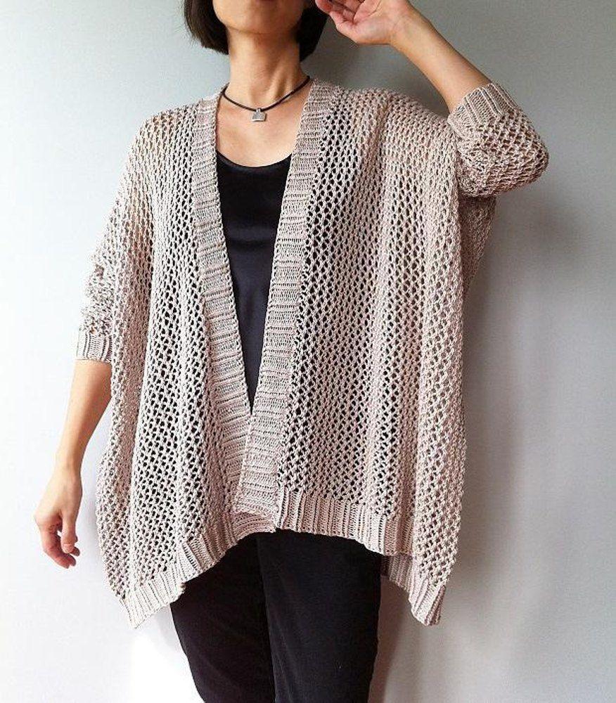 af3647591c845b Angelina - easy trendy cardigan (knit)