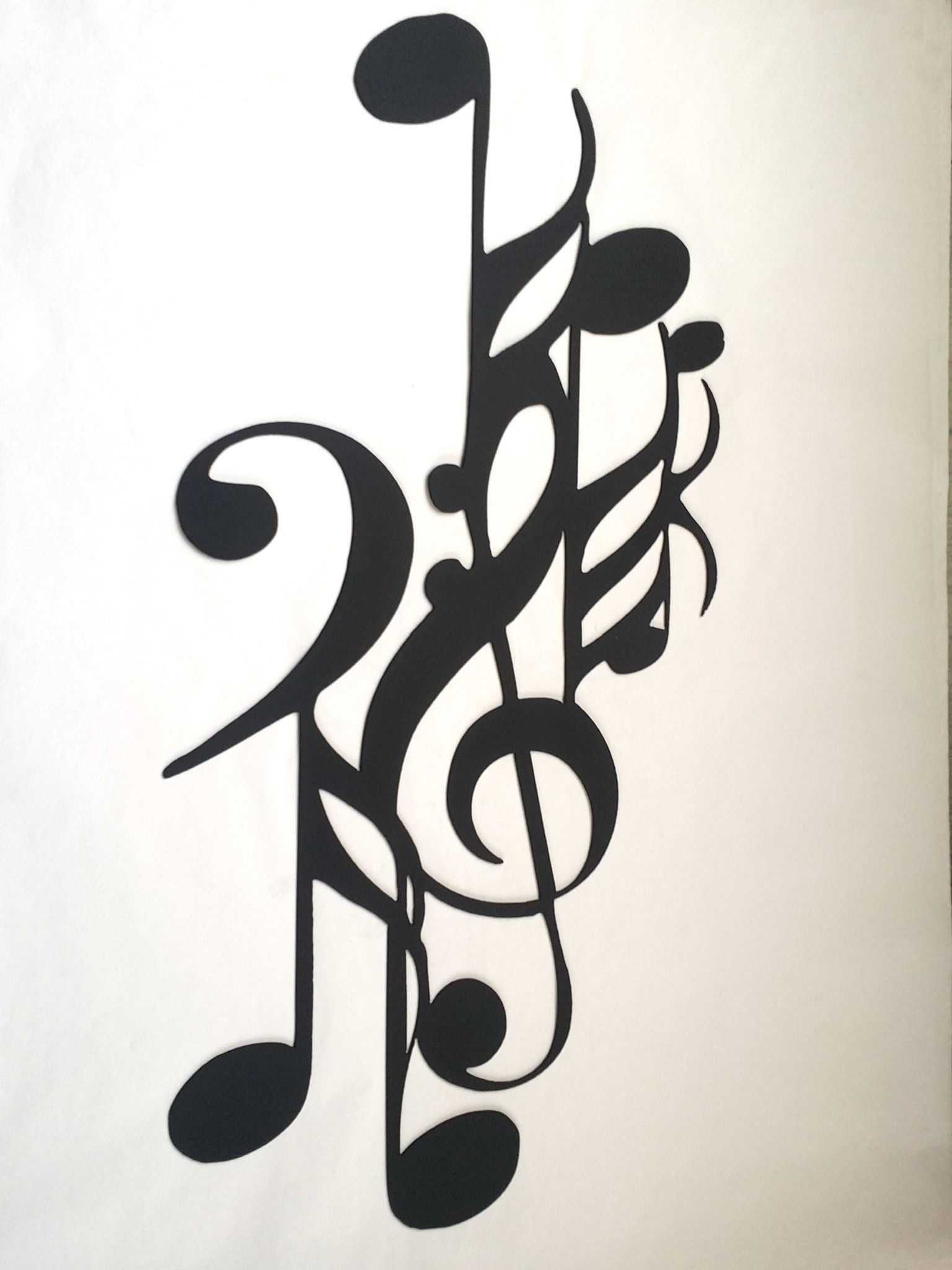 Music and notes art deco ft metal wall art home decor art deco