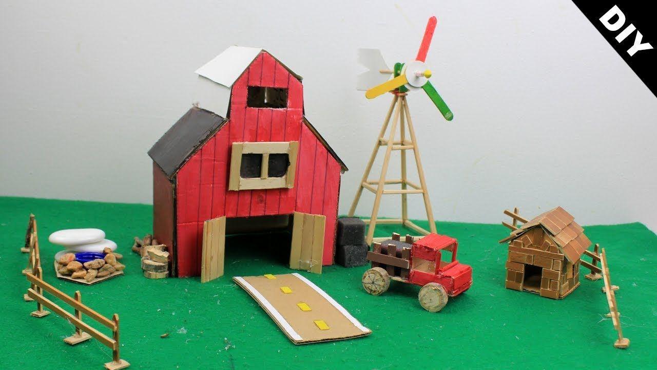 Miniature Dollhouse FAIRY GARDEN ~ Wooden Wood FARM Barn House ~ NEW