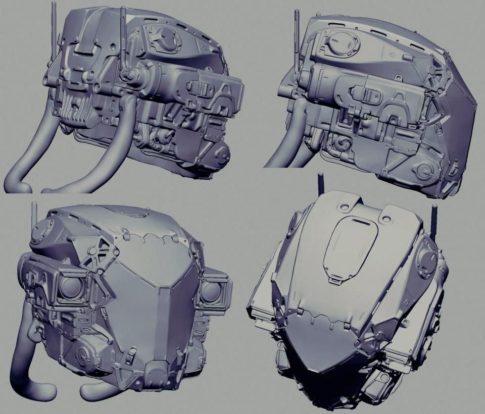 by Mike Nash  Some of the Drone work. Looking back now I probably strayed a little too much from the concept, I did try make it for today mechanics and not too sci-fi looking.  Spent around 4 days on it I think.