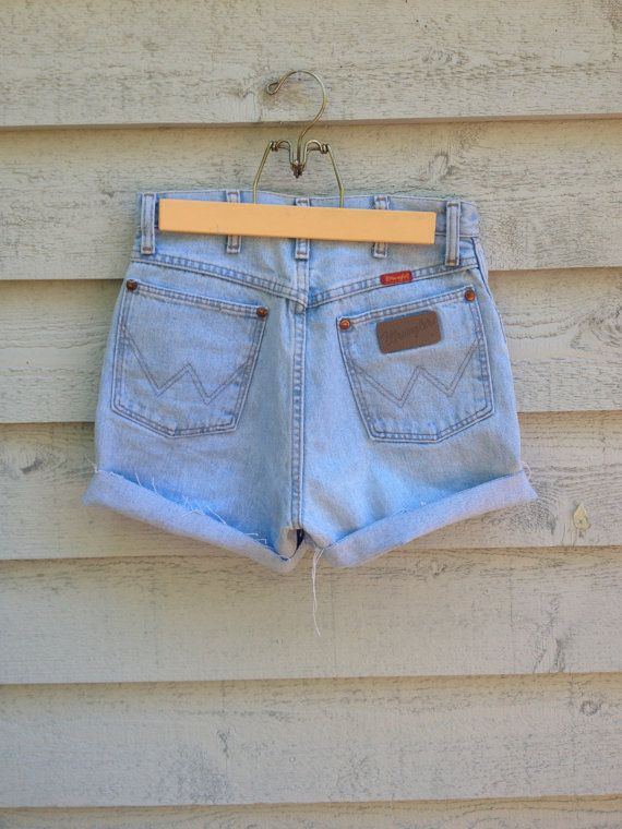 2868994f Vintage 80's Wrangler Jean Shorts. 1980's High by PleasantVintage, $25.00