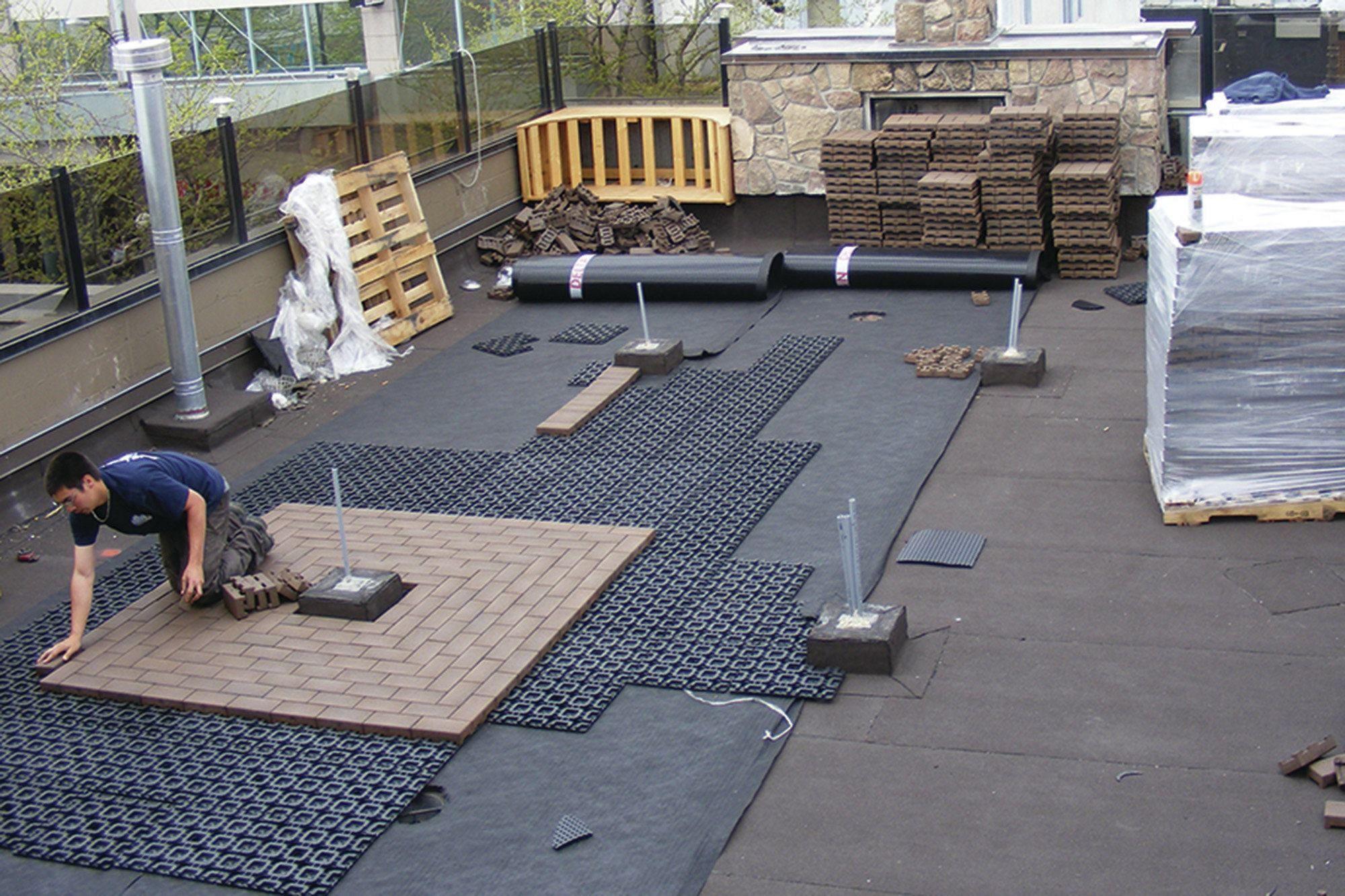 Rooftop Deck Material Options In 2020 Roof Garden Design Building A Deck Rooftop Deck