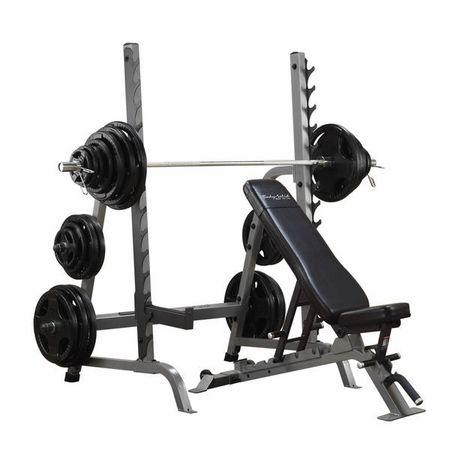 Body Solid Sdib370 Olympic Bench Rack Combo Squat Rack Weight Benches Bench Press