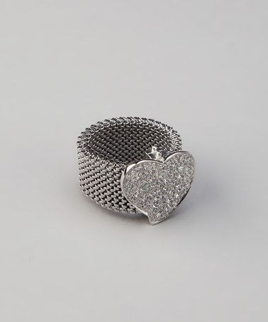 Crystal & Stainless Steel Ring by BJG Services on zulily