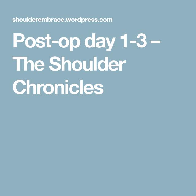 Rotator Cuff, Shoulder Surgery, Day