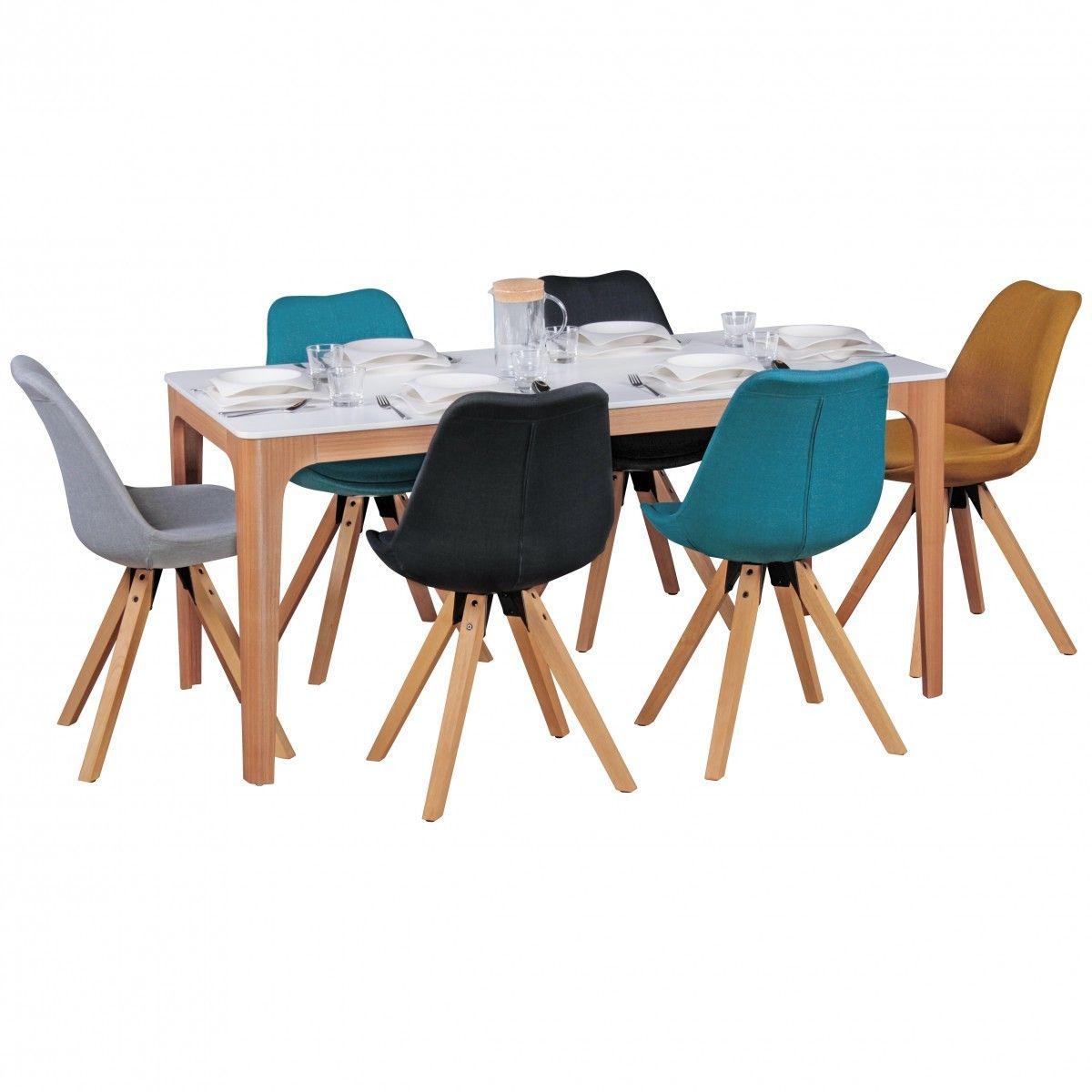 FineBuy Esszimmertisch MDF Holz Esstisch mit Tischplatte in weiß ...