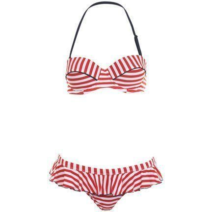 Miss Selfridge Stripe Bikini as seen on Suki Waterhouse